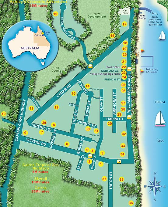 Palm Cove Location Map
